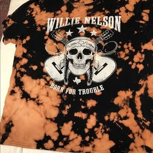 Willie Nelson Graphic Band T Oversized Tie-Dye